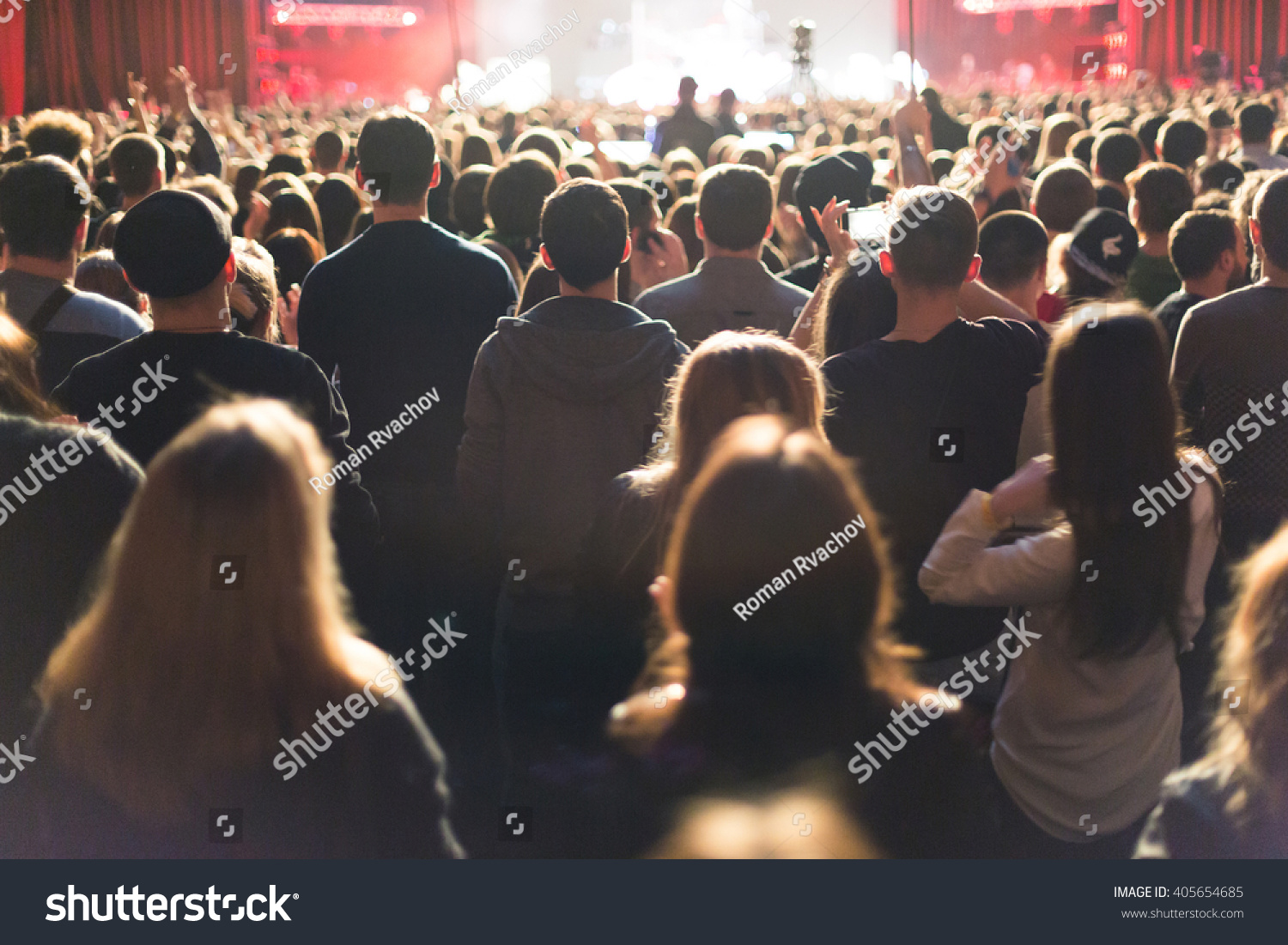 The audience watching the concert on stage. #405654685