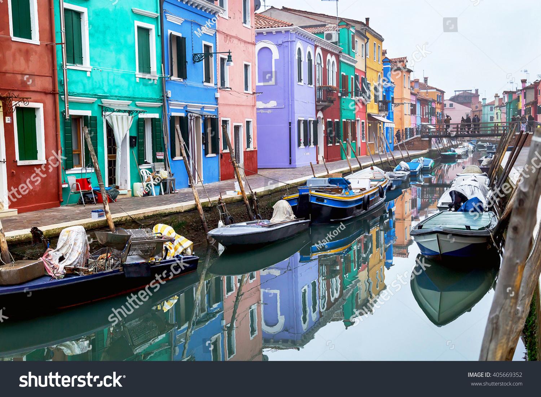 Colorful burano italy burano tourism - Burano Italy December 22 2015 Scenic View Burano Island In The Venetian