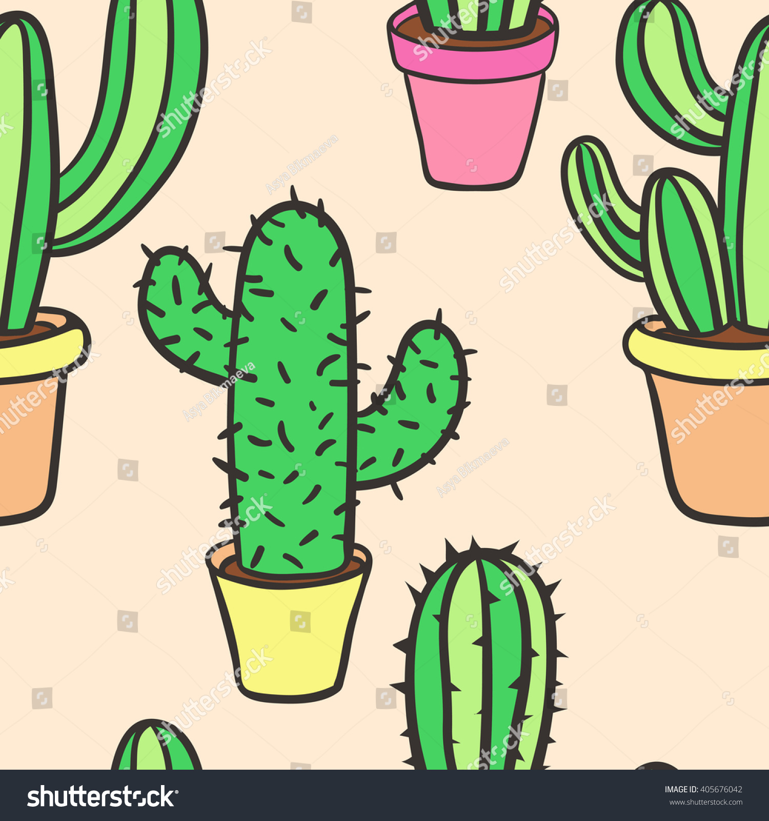 how to draw a prickly pear cactus