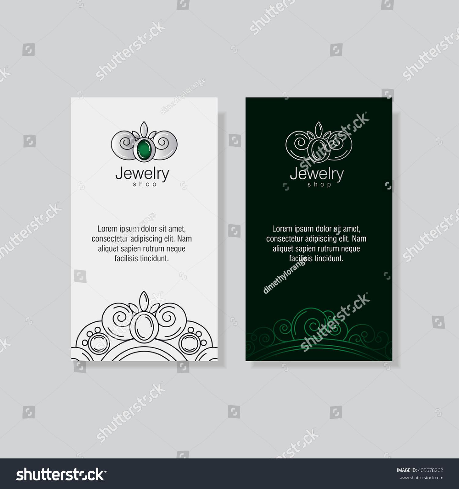 Logo Business Card Templates Jeweler Workshop Stock Vector ...