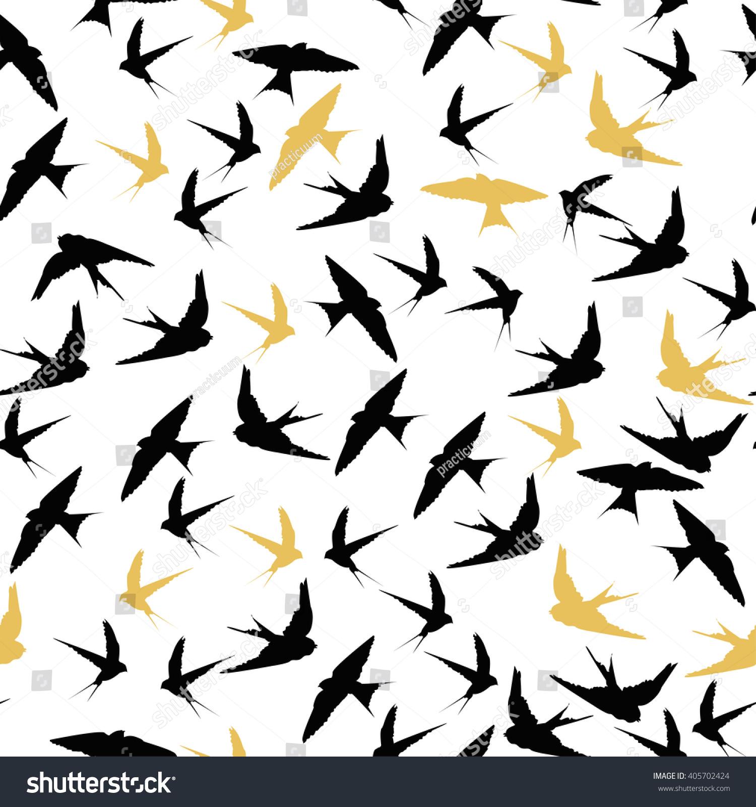 swallow bird pattern seamless stock vector royalty free 405702424