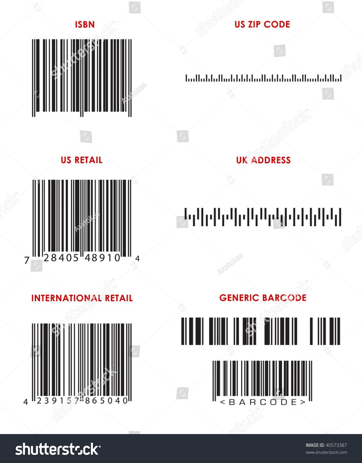 bar codes various formats upc isbn stock illustration. Black Bedroom Furniture Sets. Home Design Ideas