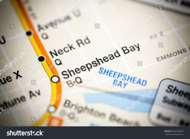 Subway Map Sheepshead Bay.Sheepshead Bay 6 Av Central Park West Queens Stock Photo Edit Now