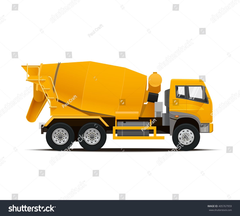 cement mixer truck high detailed vector stock vector 405767959