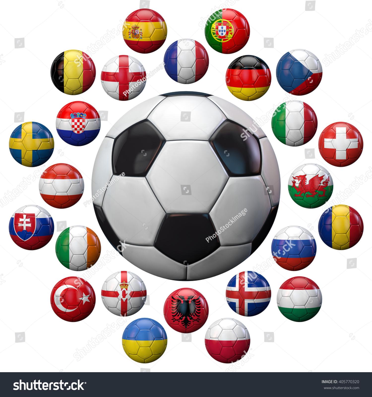 football 2016 uefa european championship football stock illustration 405770320 shutterstock. Black Bedroom Furniture Sets. Home Design Ideas