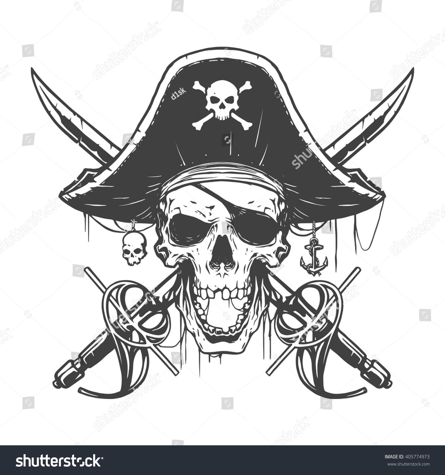Immagini Di Teschio Pirati immagine vettoriale stock 405774973 a tema illustrazione di