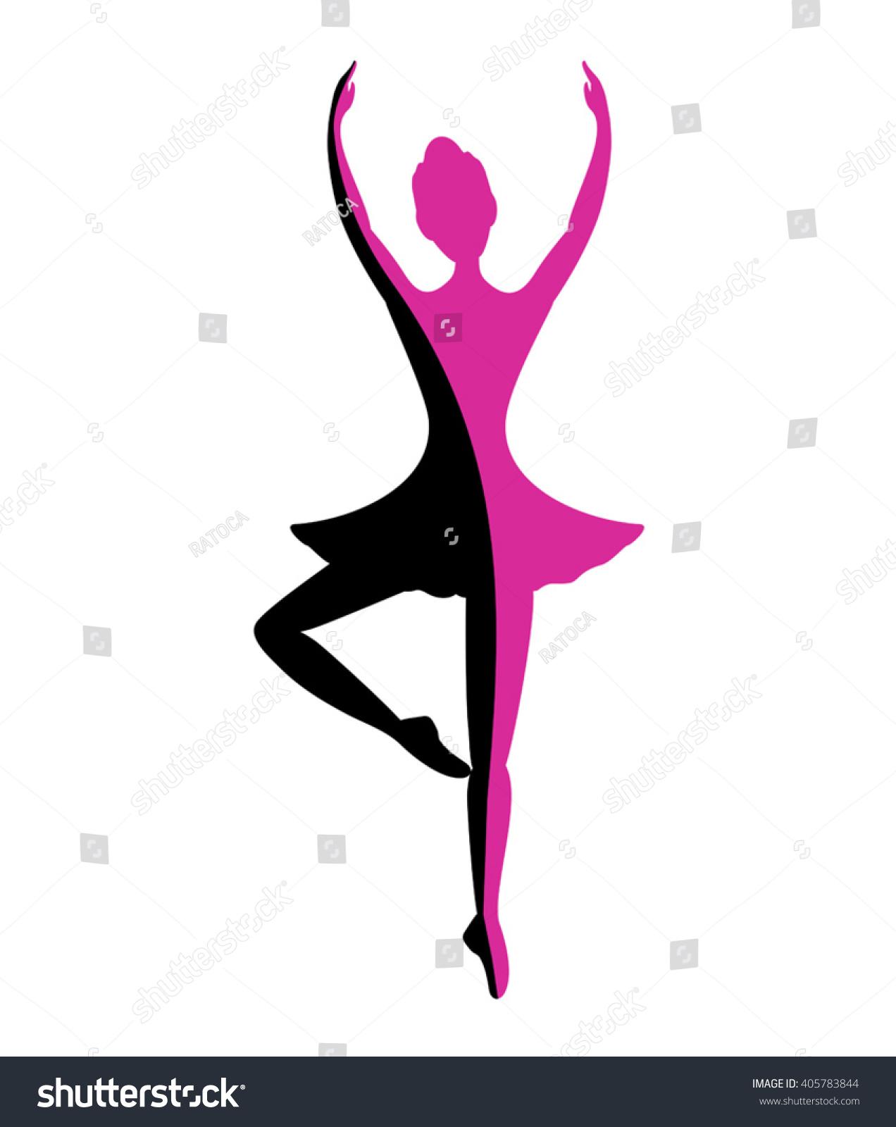 dancer girl symbol stock vector 405783844 shutterstock