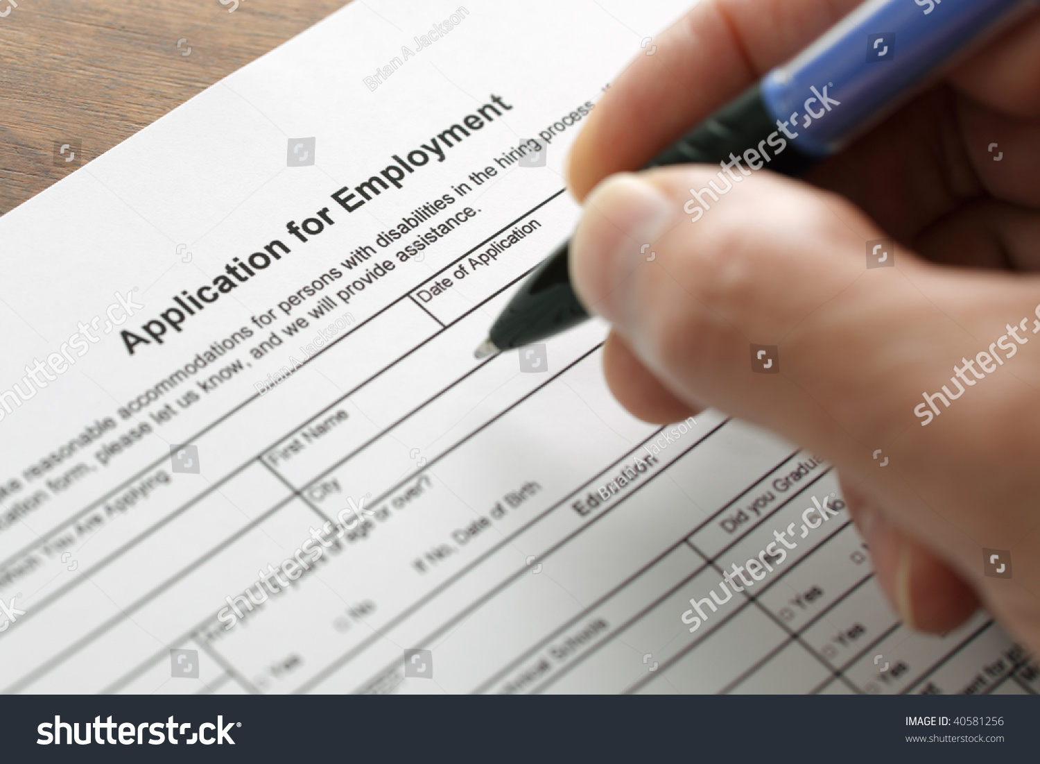 completing an employment application form focus on heading completing an employment application form focus on heading preview save to a lightbox