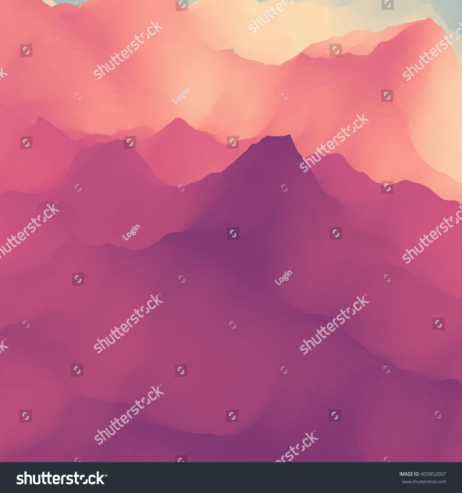 Mountain Landscape Mountainous Terrain Vector Silhouettes Of Mountains Backgrounds