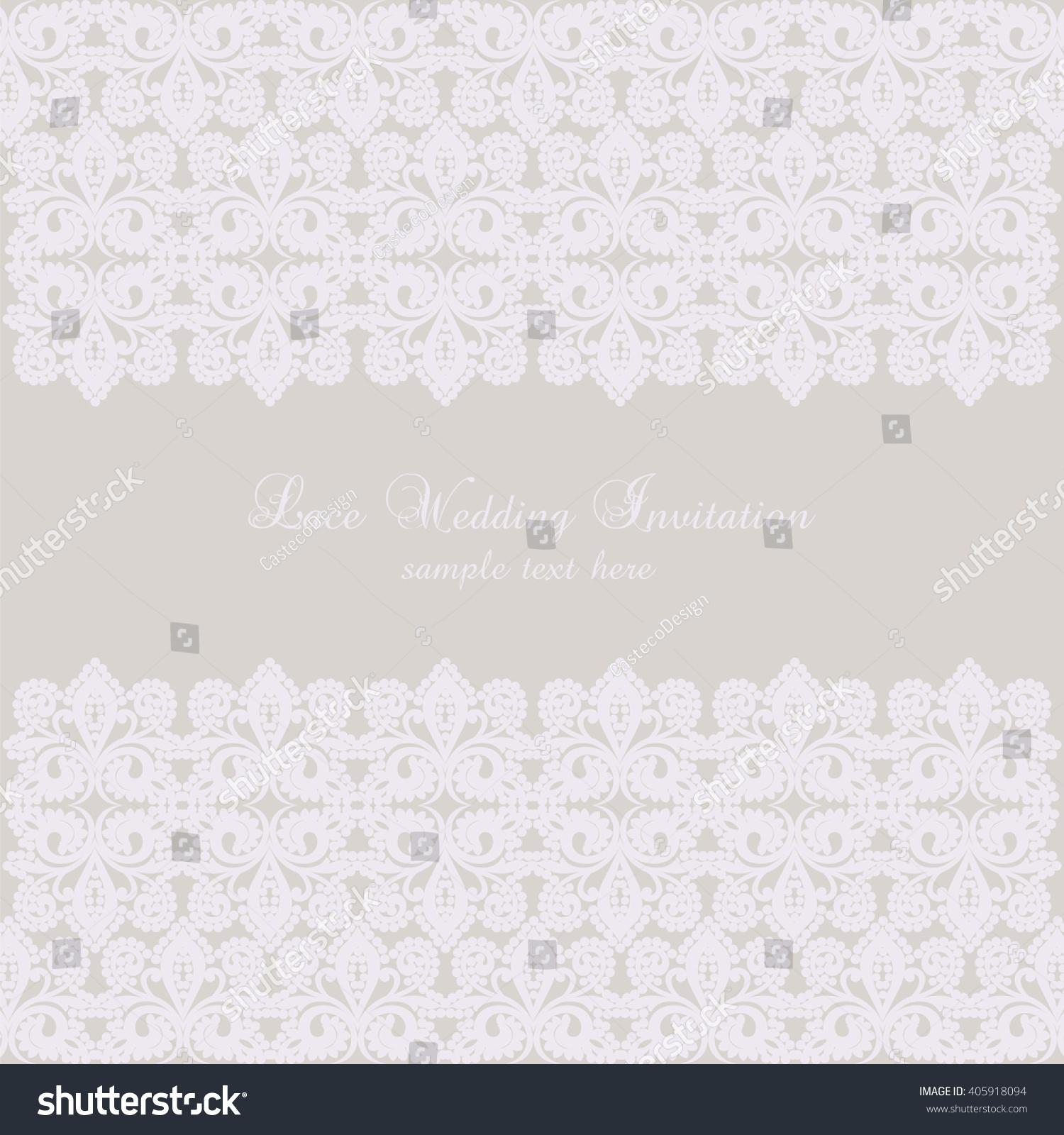 Vector Lace Crochet Card Background Wedding Stock Vector 405918094 ...