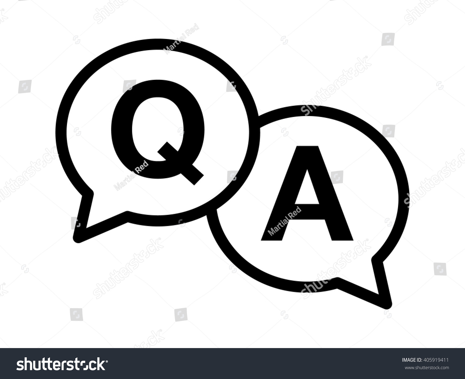 Q Line Art : Questions answers qa speech bubbles line stock vector