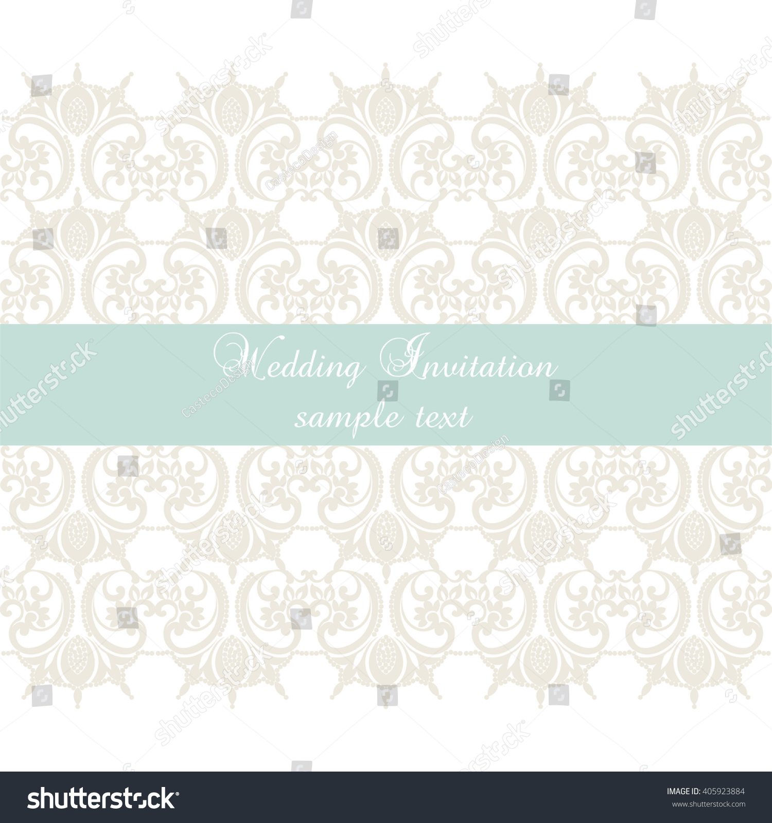 Crochet Wedding Invitations: Vector Lace Crochet Card Background Wedding Stock Vector