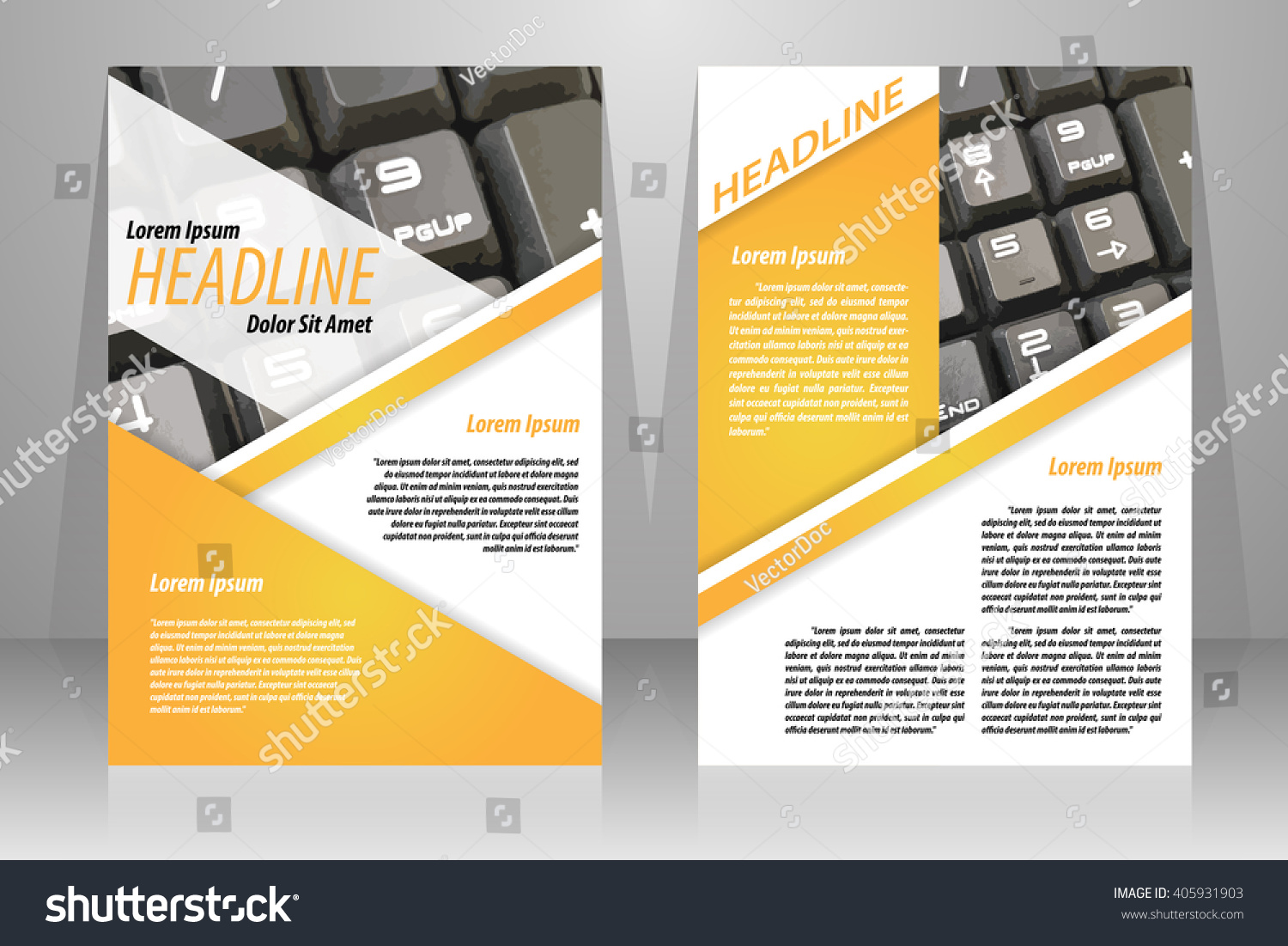 Abstract Vector Modern Flyers Brochure Booklet Stock Vector - Brochure booklet templates