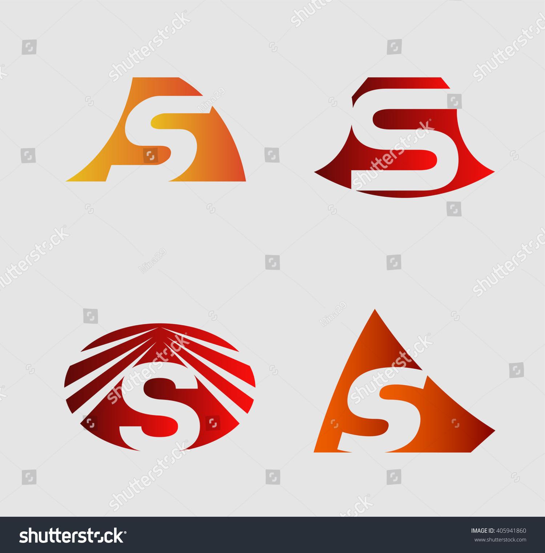 Set Alphabet Symbols Elements Letter S Stock Vector 405941860