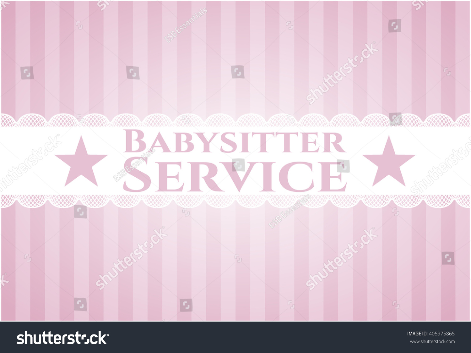 babysitter service poster or banner stock vector illustration save to a lightbox