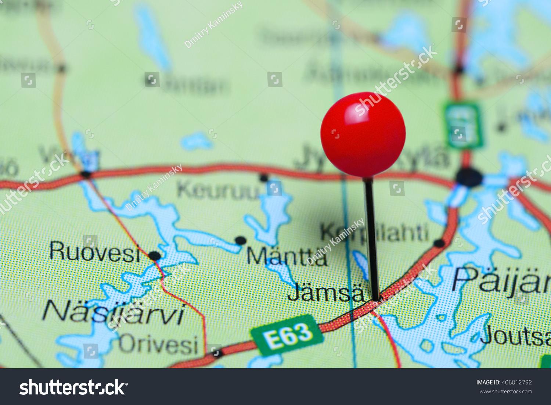Jamsa Pinned On Map Finland Stock Photo 406012792 Shutterstock