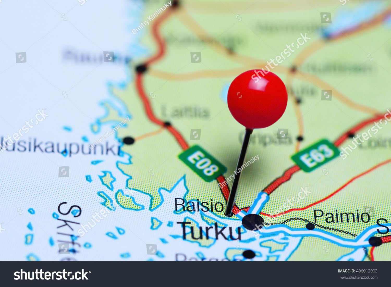 Raisio Pinned On Map Finland Stock Photo 406012903 Shutterstock