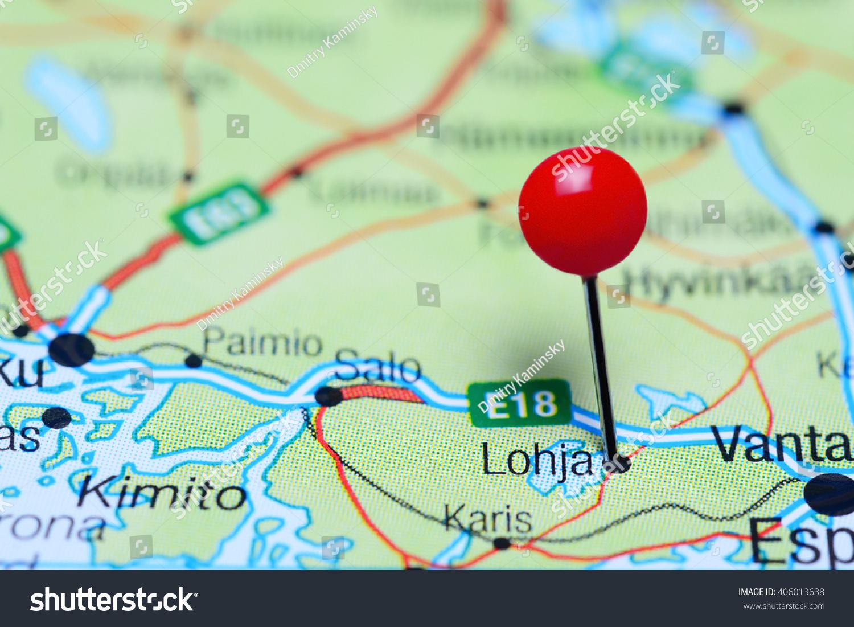 Lohja Pinned On Map Finland Stock Photo 406013638 Shutterstock