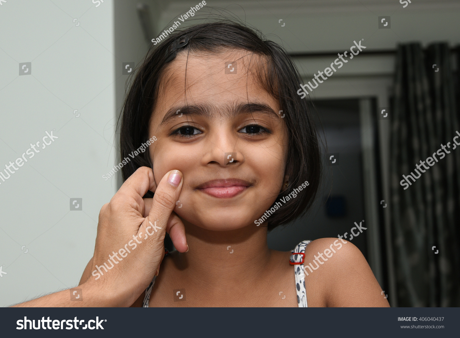 Mother Pampering Child Little Small Indian Stock Photo 406040437 - Shutterstock-1385