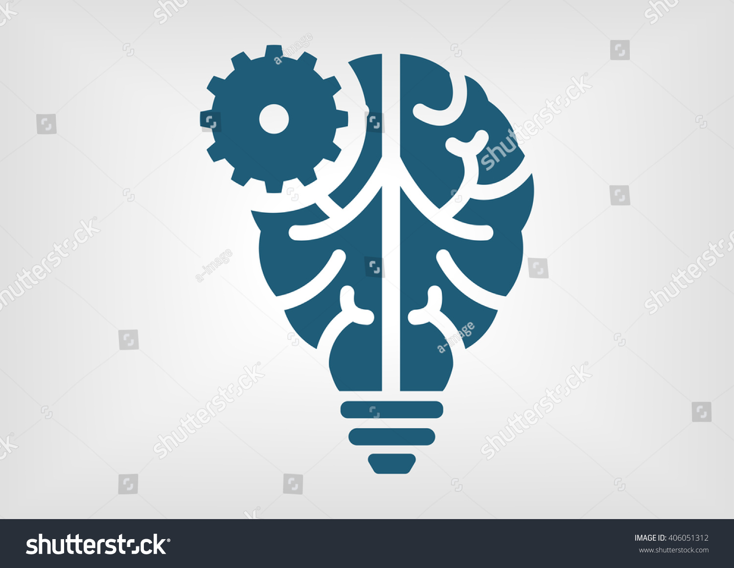 Artificial Intelligence Icon With Lamp Branch Lights Wiring-diagram ...