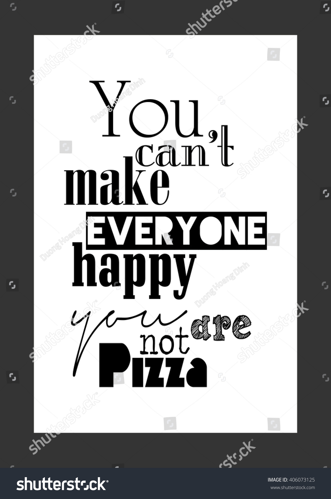 Food Quote Pizza Quote You Cant Stock Vector Royalty Free