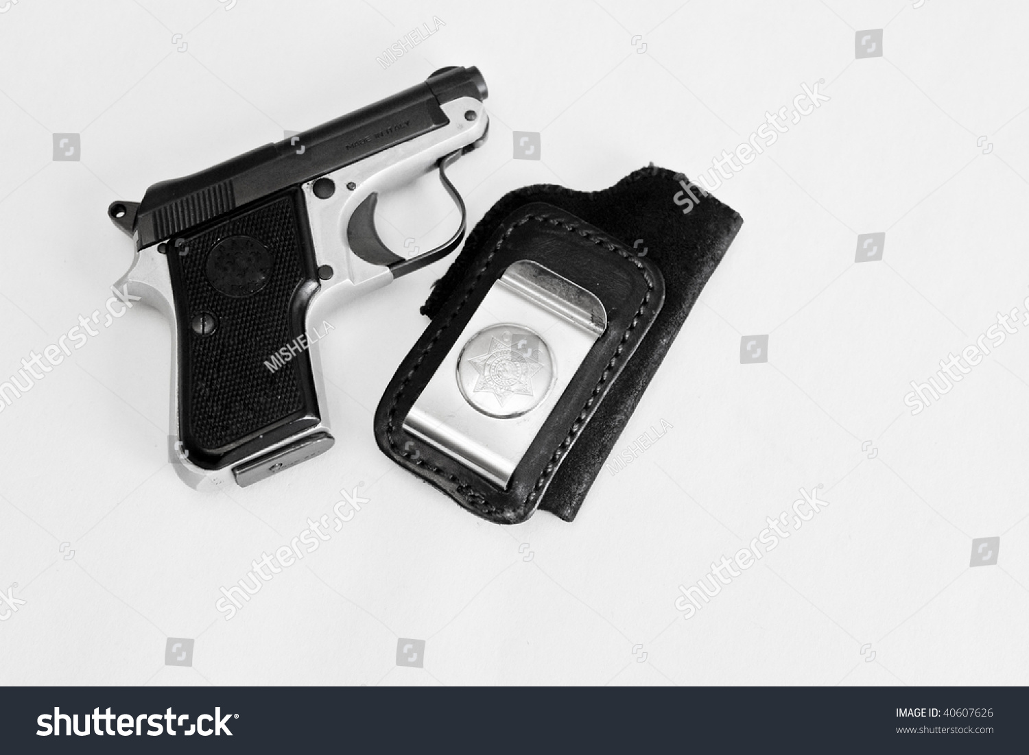 Pistol Beretta 950 22 Short Stock Photo (Edit Now) 40607626