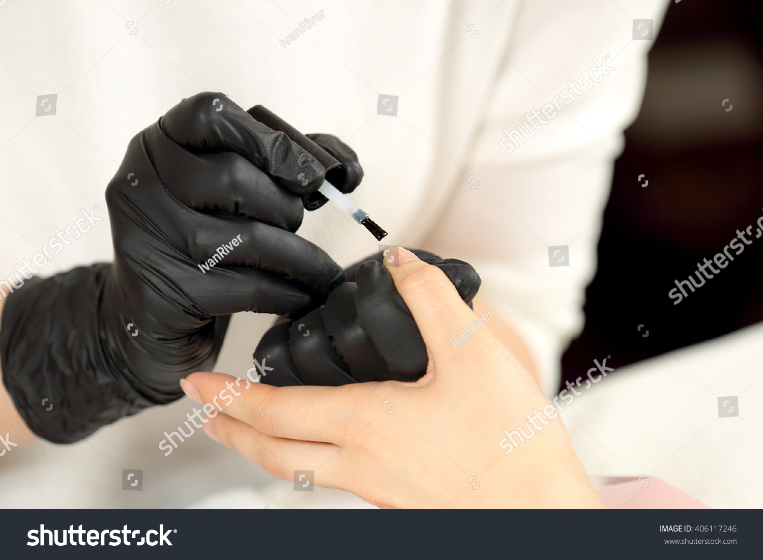 Black gloves with nails - Save To A Lightbox