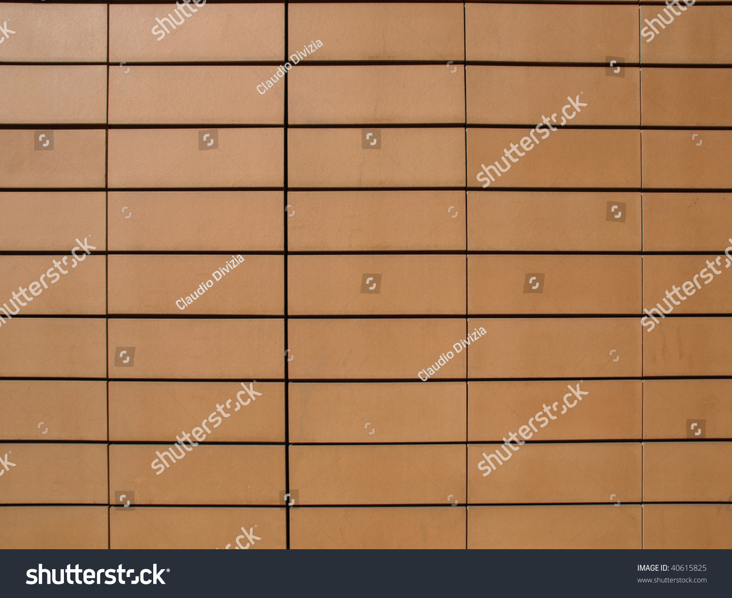 Orange ceramic terracotta tiles wall cladding stock photo 40615825 orange ceramic terracotta tiles as a wall cladding dailygadgetfo Gallery