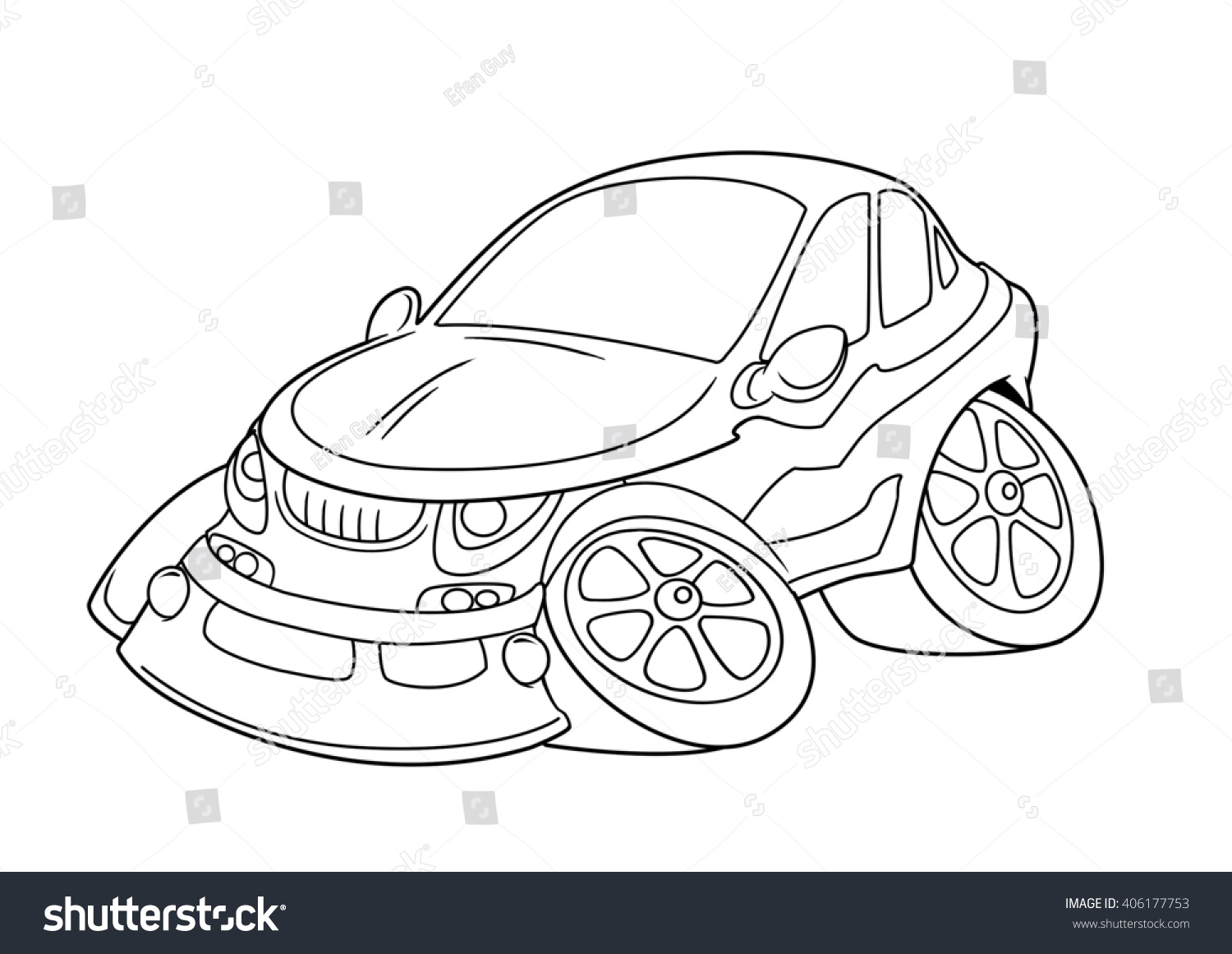 - Car Coloring Pages Cartoon Isolated Image Stock Illustration 406177753