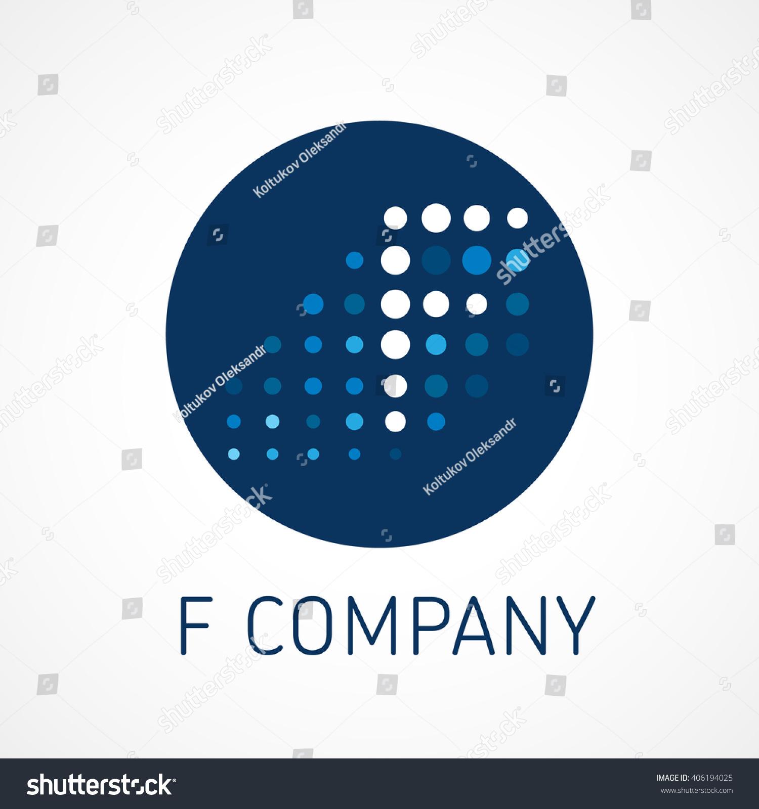Letter F Finance Service Design Template Stock Vector 406194025 ...