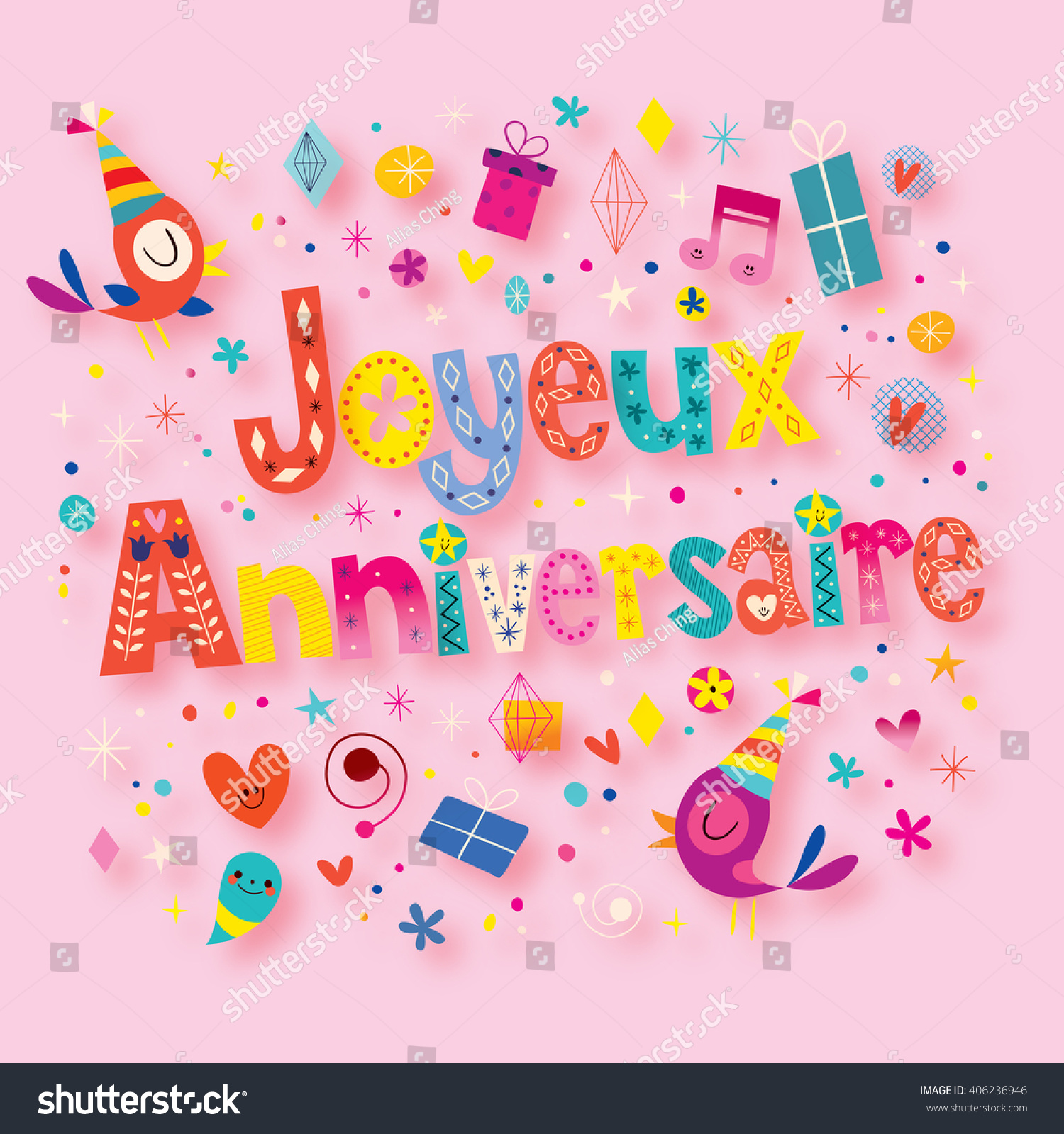 anniversaire in french