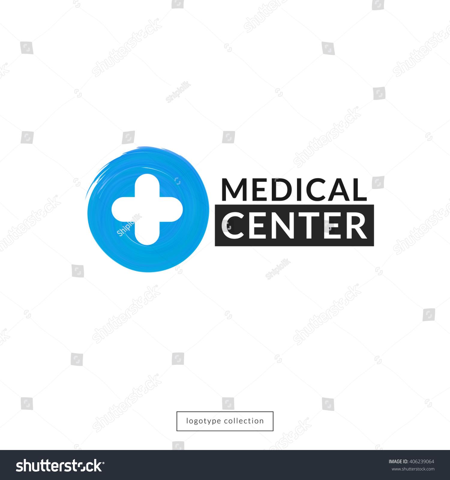 Medical Center Logo Design Template Round Stock Vector 406239064 ...