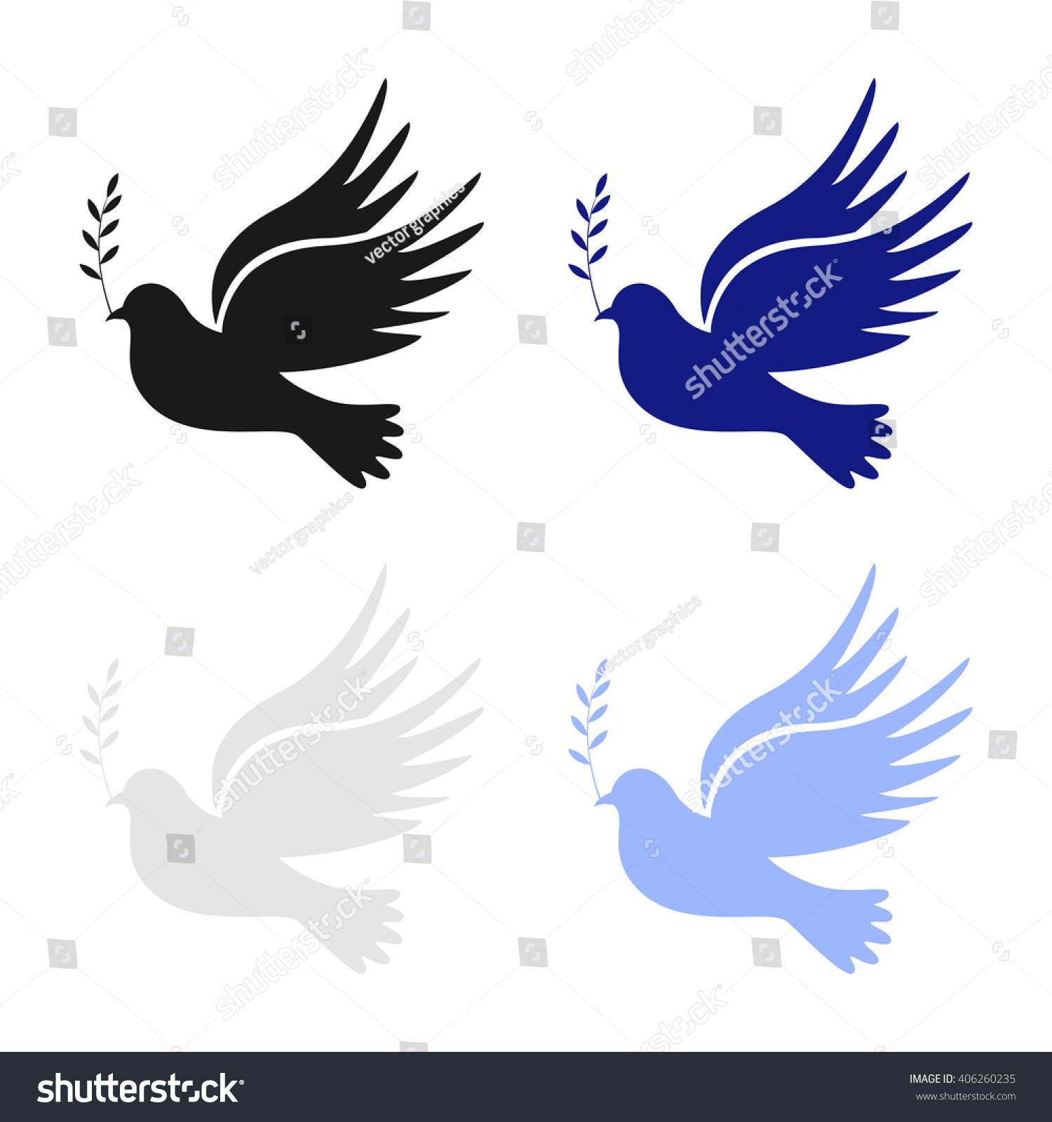 Dove Peace Dove Peace Vector Peace Stock Vector Royalty Free