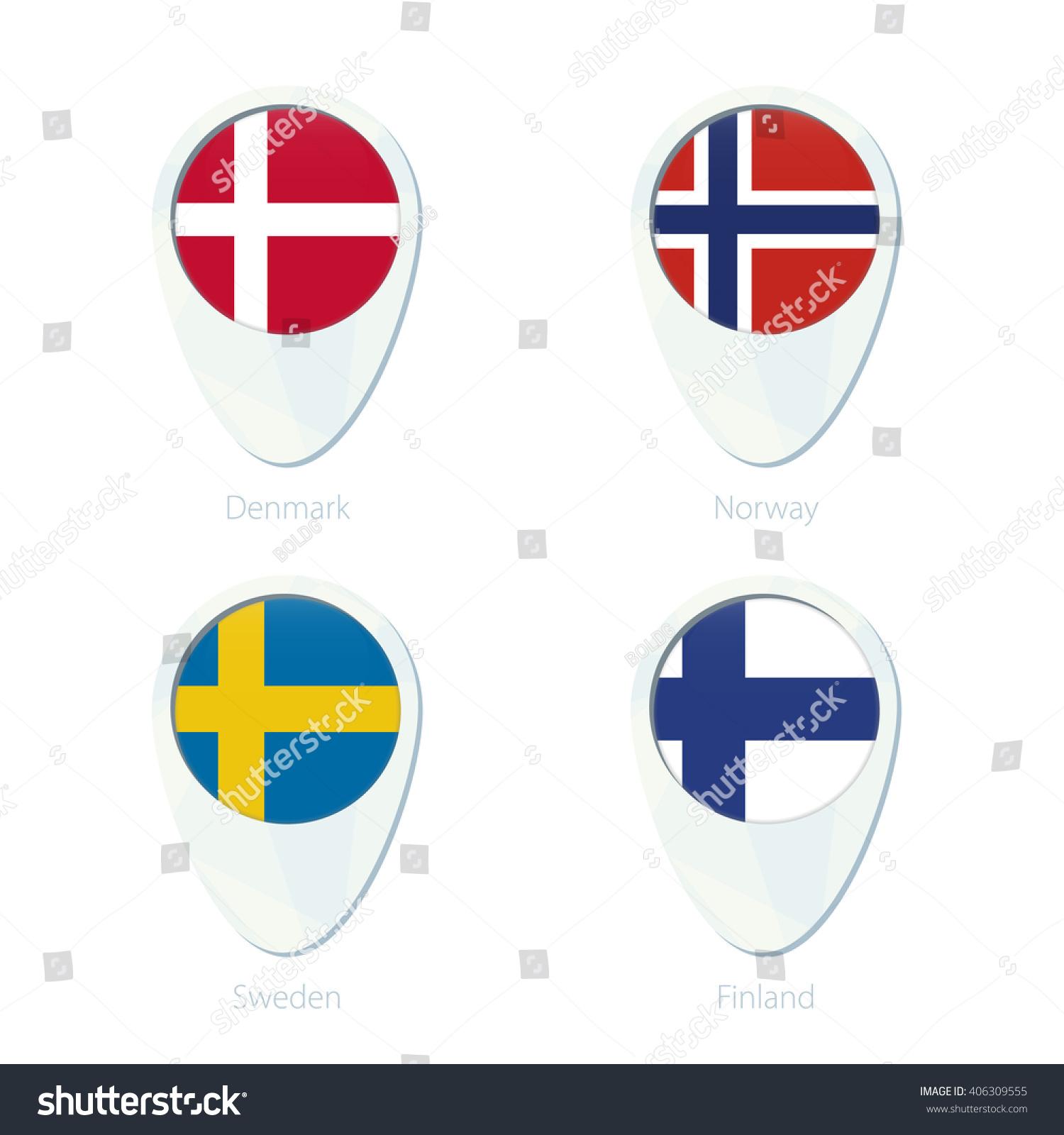 Picture of: Vector De Stock Libre De Regalias Sobre Denmark Norway Sweden Finland Flag Location406309555