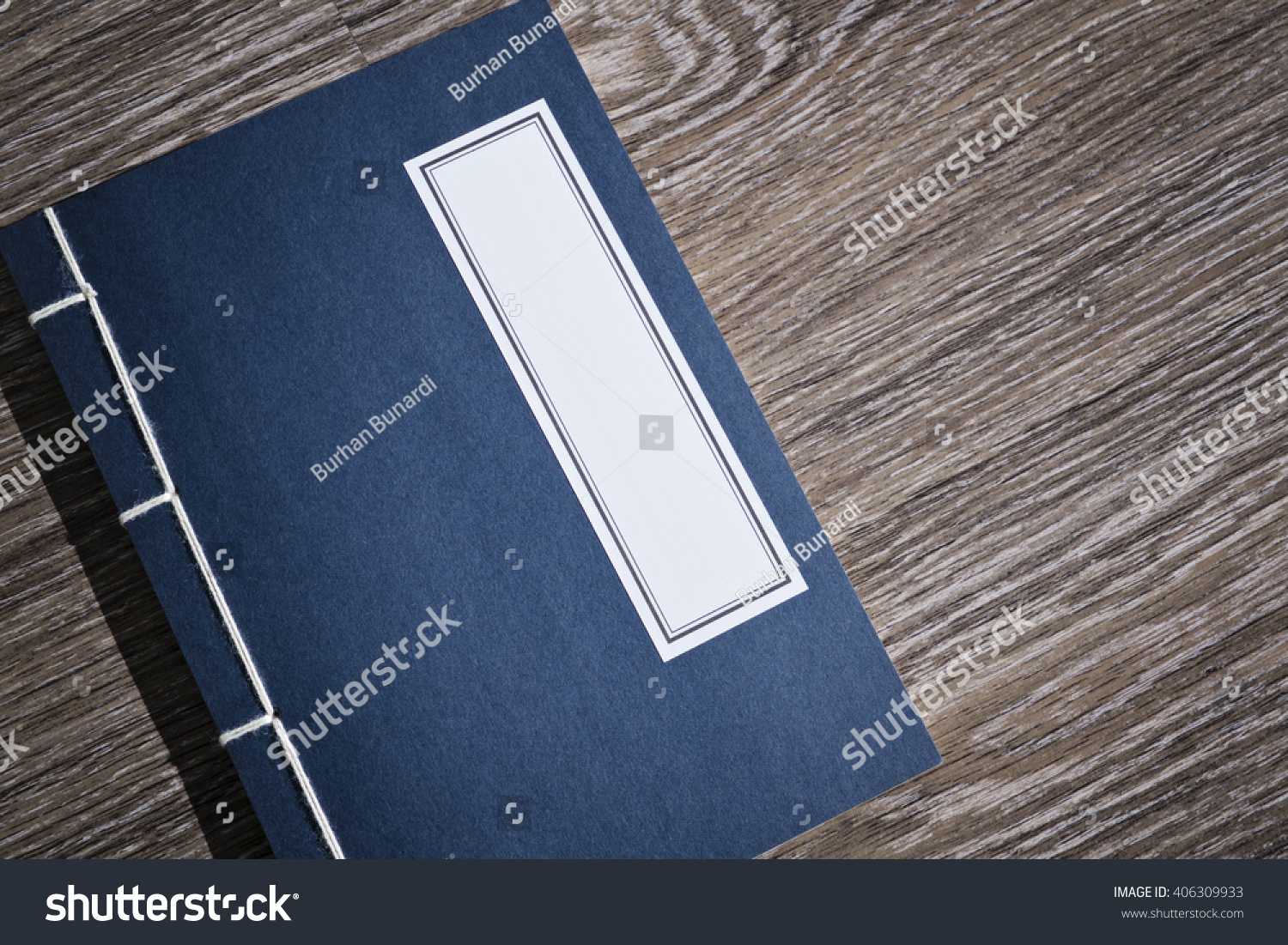 Vintage Oriental Blue Chinese Book Stock Photo (Royalty Free ...