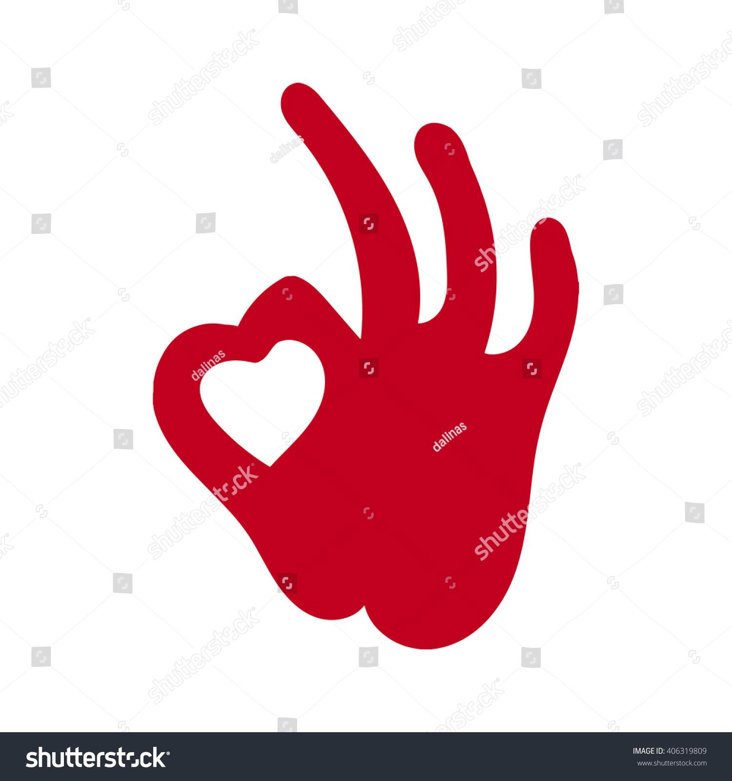 heart hands heart shape design love stock vector 406319809