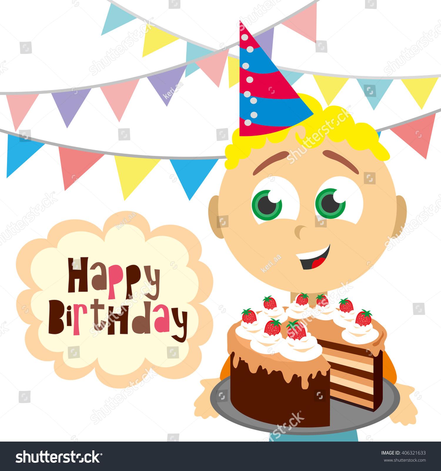 Happy Birthday Happy Birthday Card Birthday Stock Vector