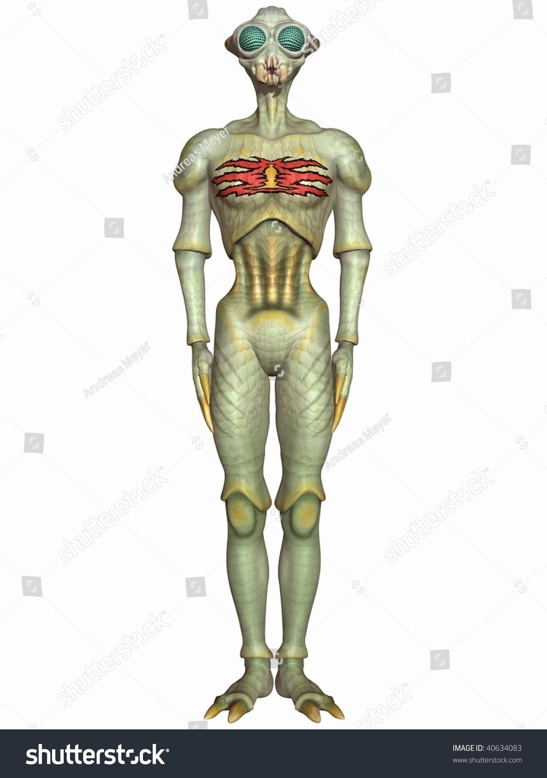 stock photo insectoid fantasy alien figure 40634083 insectoid fantasy alien figure stock illustration 40634083