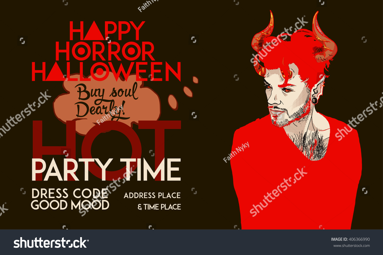 Catchy Pop Art Party Invitation Poster Stock Vector 406366990 ...