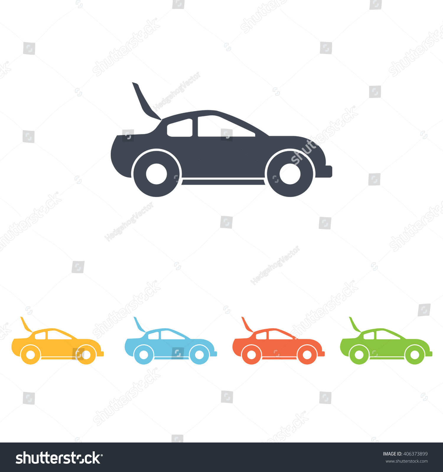 Car Open Lid Icon Stock Vector 406373899 - Shutterstock
