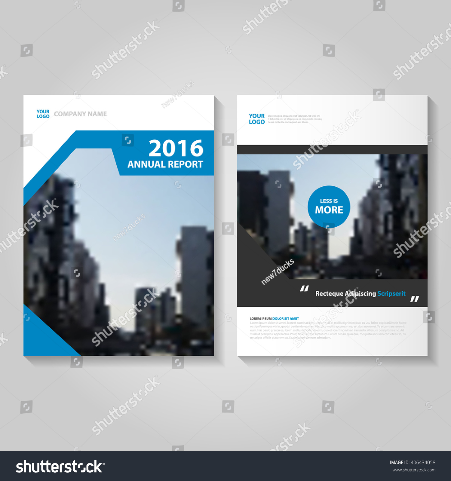 Royaltyfree Elegance Blue Vector annual report 406434058 – Simple Annual Report Template