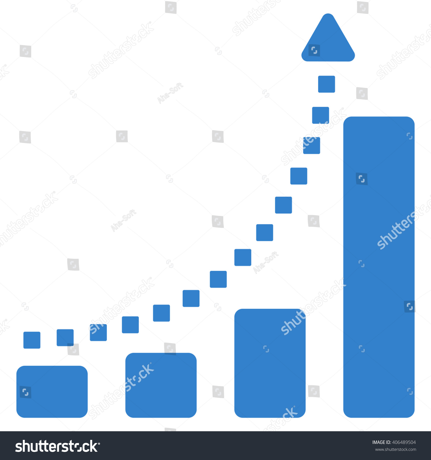 Bar chart trend vector toolbar icon stock vector 406489504 bar chart trend vector toolbar icon style is flat icon symbol cobalt color ccuart Gallery