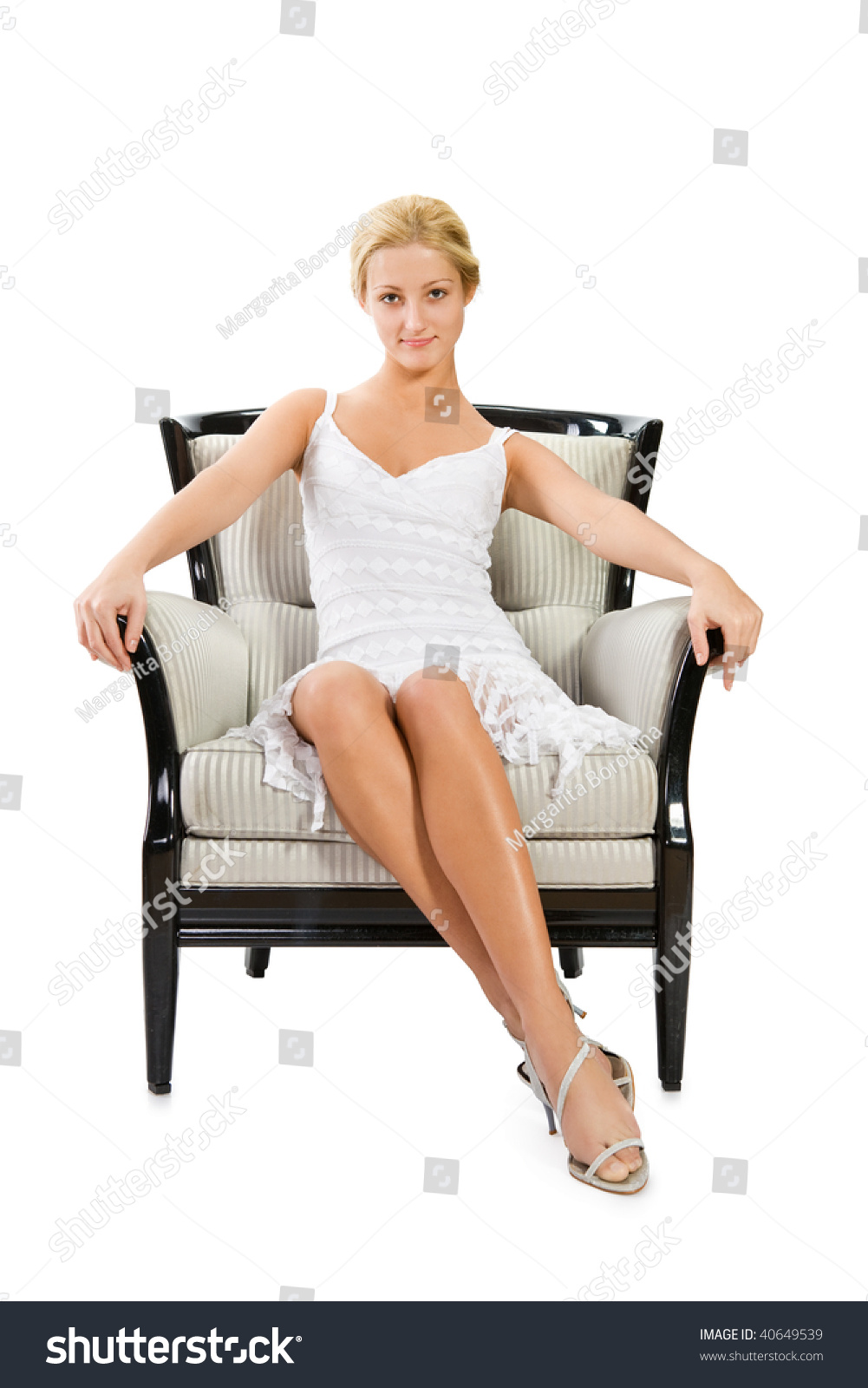 Business woman sitting on a woman sitting