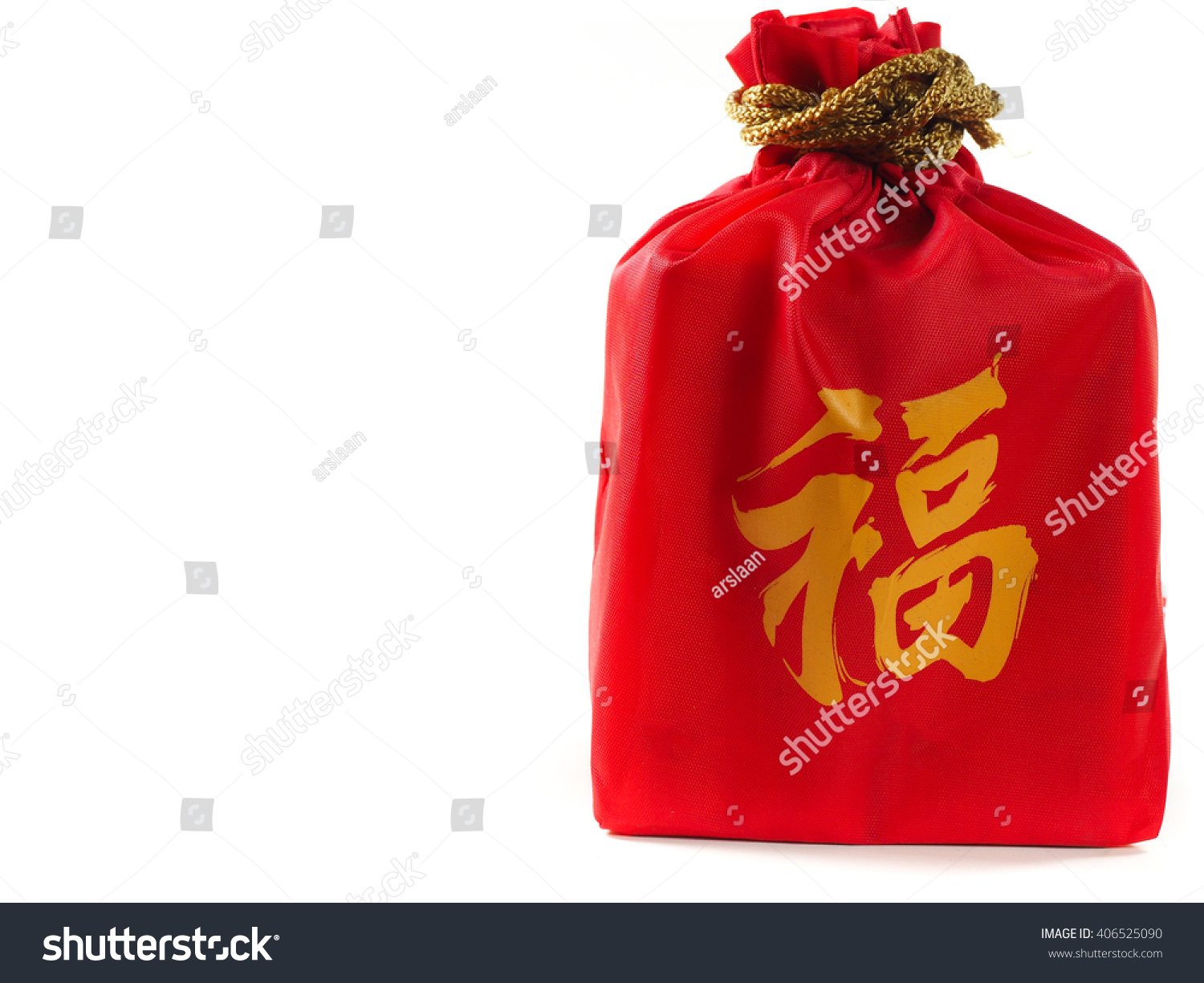 Red Bag Isolate Background Fu Meaning Stock Photo Royalty Free
