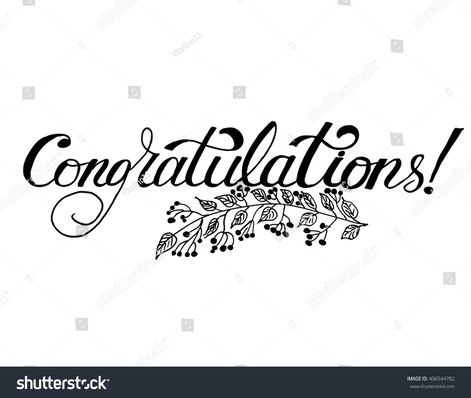 Congratulations hand lettering vector modern calligraphy