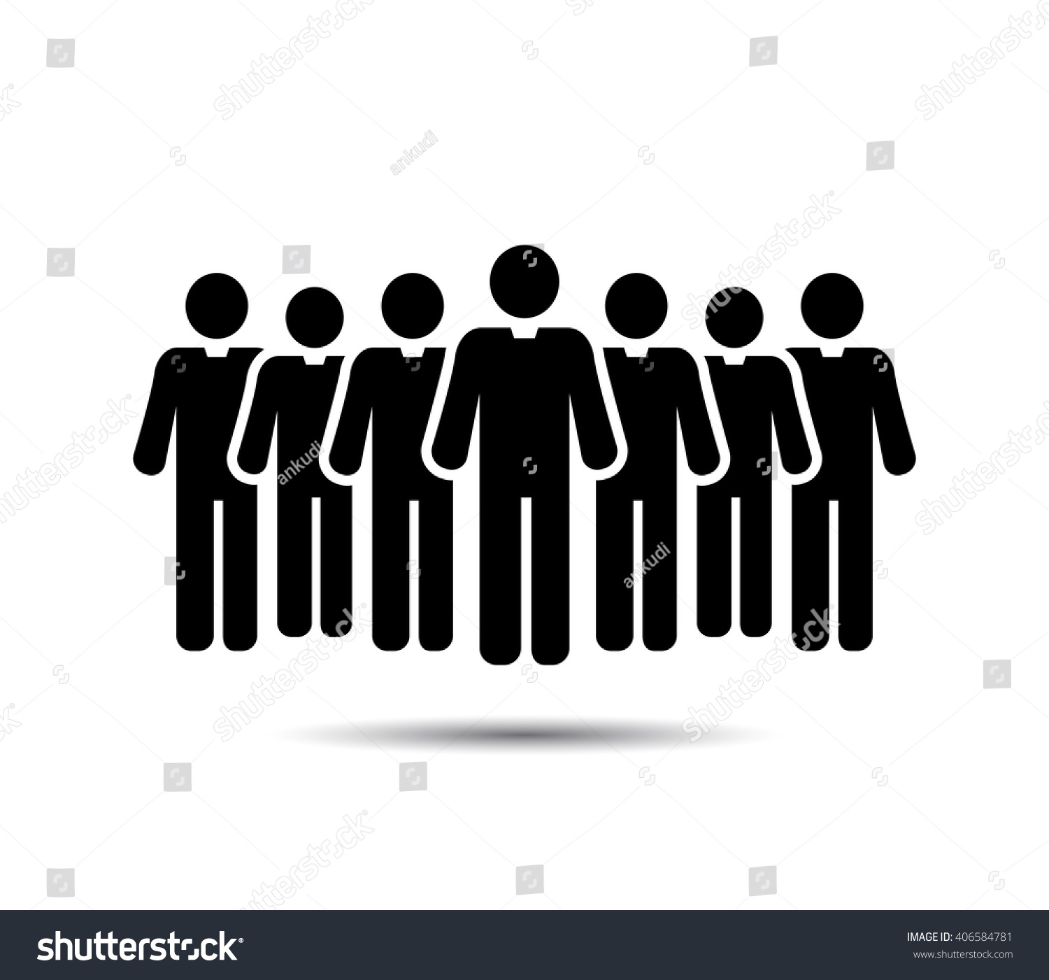 Businessman Icons Team Icons Crowd People Stock Vector ...