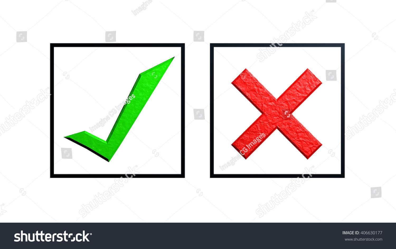 Check Box Green Tick Red X Stock Illustration 406630177 Shutterstock