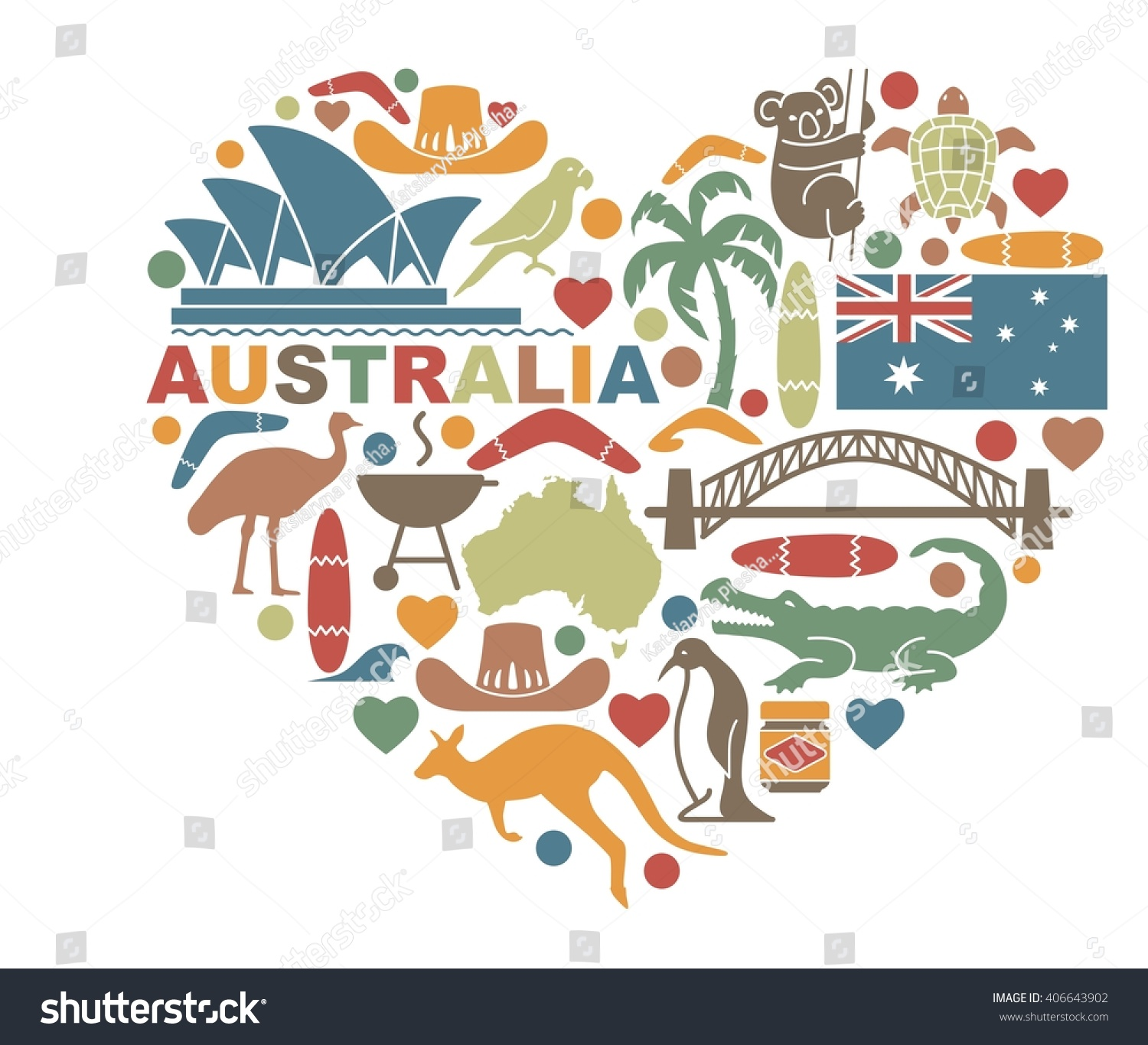 Making australia home design lessons tes teach royalty free traditional symbols of nature and 406643902 stock biocorpaavc Choice Image