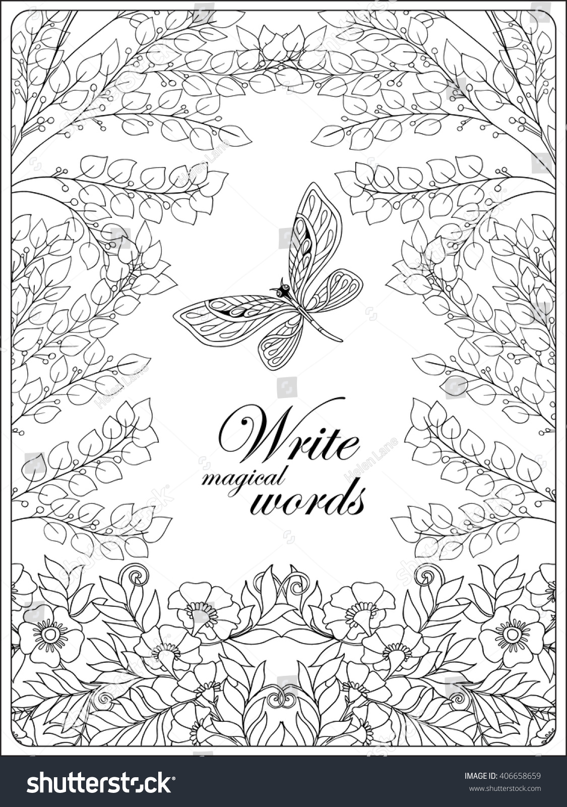 Birds And Butterflies Coloring Pages