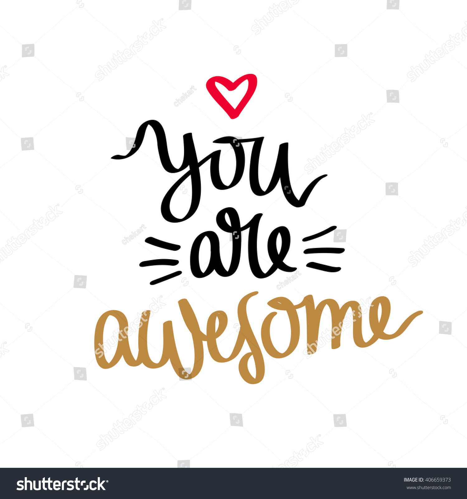 quote youre awesome fashionable calligraphy vector stock vector